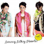 Nieuwe collectie zijde sjaals