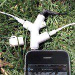 Headset aansluiting voor MP3 speler