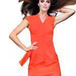 Monique Collignon ontwerpt oranje jurk