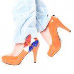 Oranje pumps