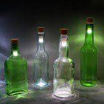 Lege flessen recycling, hergebruik van lege fles als decoratie