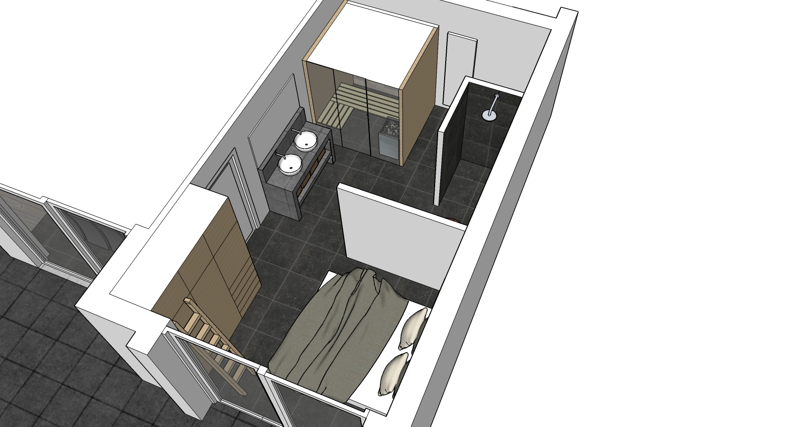 Slaapkamer Met Badkamer : Sauna en Wellness, mijn ontwerp en verhaal ...