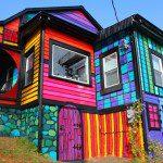 Bontgekleurd huis