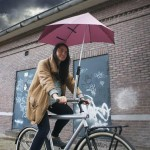 Test; Senz° parapluhouder, droog op de fiets