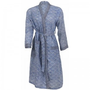 wrap-dress blue
