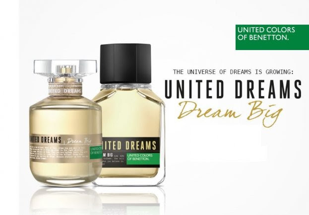 United colors of benetton lanceert dream big geur for Benetton dream big