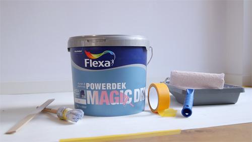 Flexa Powerdek Magic Dry muurverf - Lifestylelady.nl