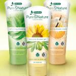 Kruidvat Pure & Nature showergel en showercrème