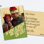 Stuur dit jaar een houten kerstkaart van Hallmark