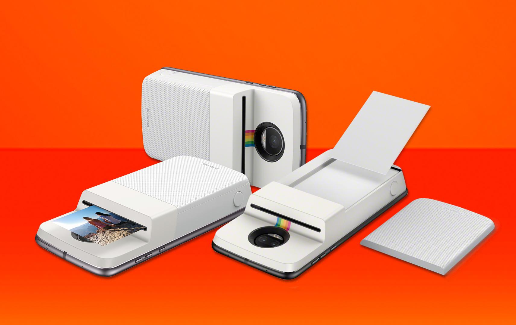 Moto mod polaroid insta-printer